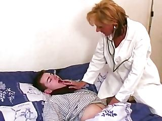 Antique Blonde Cougar Medic In Hot Undergarments Passionately Fucks Her Patient
