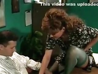 Retro Huge-chested Mummy Rectal In Office