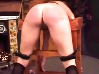 Retro_spanked And Caned On Her Stunning Butt