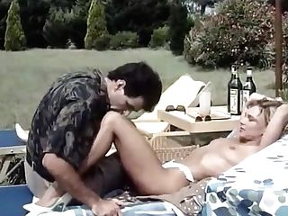 80s Italian Big Trouser Snake Plower Entices Hot Blonde For Xxx Fuck Outdoors