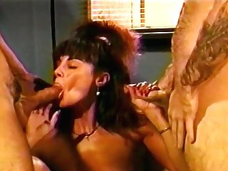 Retro Black-haired Mummy Loves To Fuck Two Guys