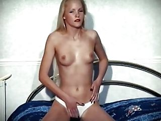 Pumping For Love - Skinny Brit Teenager Disrobe Dance Taunt